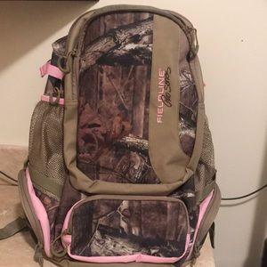 Pink/camo backpack